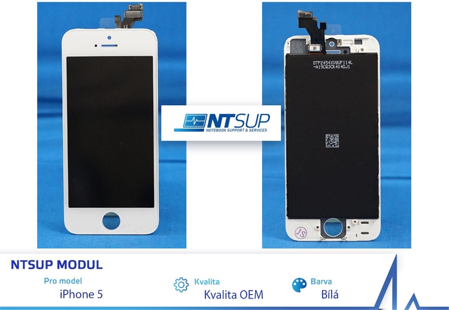 288170 - NTSUP LCD modul iPhone 5 bílý Kvalita B 9dccf346d79